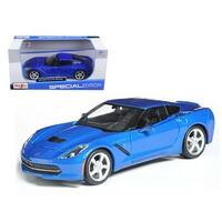 2014 Chevrolet Corvette C7 Coupe Blue 1/24 Diecast Model Car by Maisto