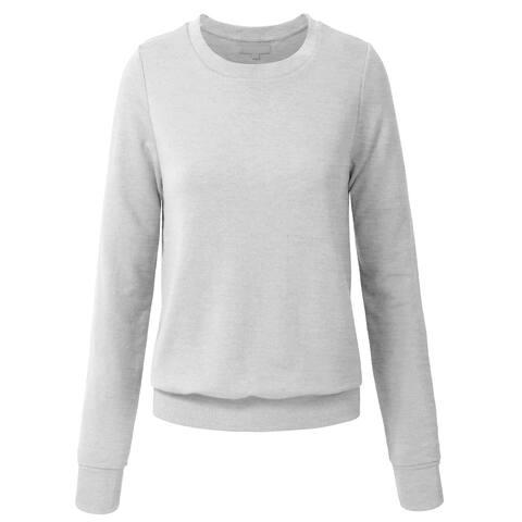 NE PEOPLE Women Basic Pullover Crew Neck Sweatshirt [NEWT35]