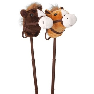 Gift Corral Western Toy Stick Horse With Adjustable Stick - multi-color