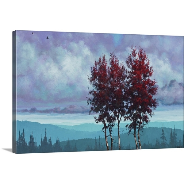 """""""Two Red Trees"""" Canvas Wall Art"""