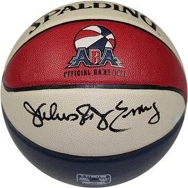 """Julius Erving Signed ABA Basketball Inscribed """"Dr. J"""""""