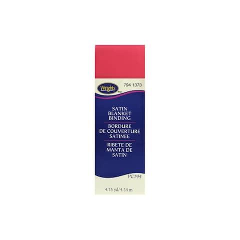 Wrights Satin Blanket Binding 4.75yd Paradise Pink