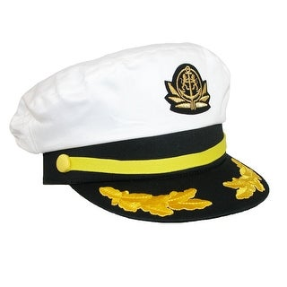 Broner Cotton Nautical Captains Yacht Cap with Classic Mariner Emblems