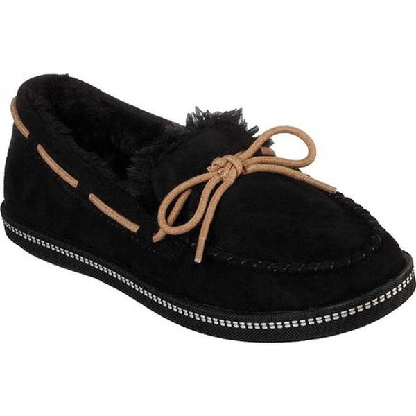 61d0105107f0 Shop Skechers Women s Cozy Campfire Toasty Ties Moccasin Black ...