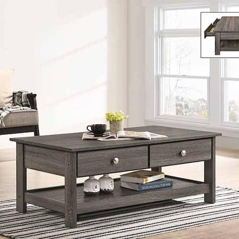 Furniture of America Aranda Rustic Grey Accent Tables (Set of 3)