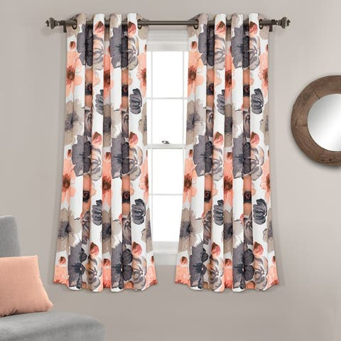 Lush Decor Leah Room Darkening Curtain Panel Pair