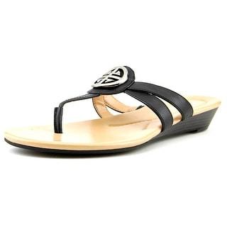 Kim Rogers Hancy Women Open Toe Synthetic Wedge Sandal