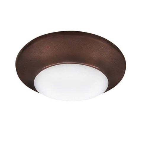 "Canarm LED-SM4D-C Single Light 5-29/32"" Wide Integrated LED Outdoor Flush Mount Ceiling Fixture"