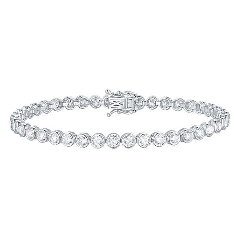 Smiling Rocks Bubbly Collection 4.65Ct G-H/VS1 Lab Grown Diamond Bracelet