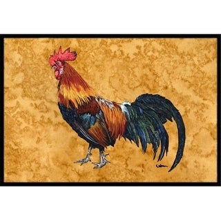 Carolines Treasures 8651JMAT Rooster Indoor Or Outdoor Doormat 24 x 36 in.