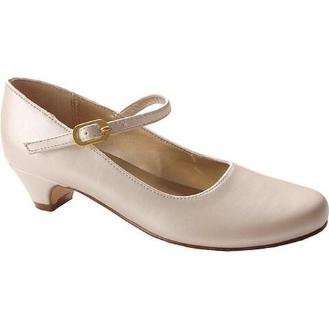 Nina Girls' Seeley Mary Jane Bone Pearlized Leather
