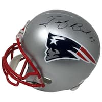 Tedy Bruschi Signed Full Size New England Patriots Replica Helmet JSA ITP