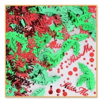 Pack of 6 Metallic Red & Green Mistletoe Christmas Celebration Confetti Bags 0.5 oz.