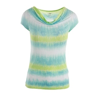 Three Dots Womens Micromodal Tie-Dye Pullover Top