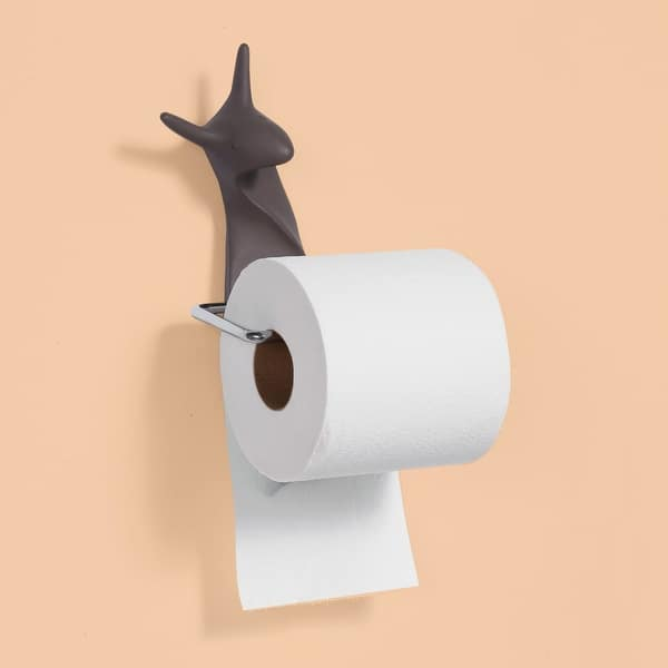 What On Earth Snail Toilet Paper Holder Wall Mount Snail Shaped Tp Roll Holder Brown Overstock 29921506