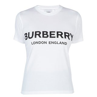 Link to BURBERRY Womens Shotover White Logo Short Sleeve TShirt XL Similar Items in Tops