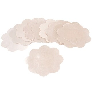 10 Pcs Flower Shape Beige Polyester Nipple Cover Pad for Ladies Woman