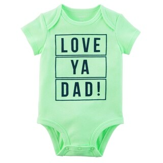 Carter's Baby Boys' Neon Love Ya Dad Collectible Bodysuit, 12 Months