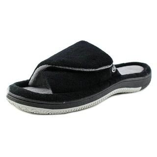 Isotoner A91255 Men Open Toe Synthetic Slides Sandal