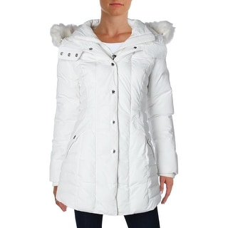 Noize Womens Cassidy Basic Coat Faux Fur 2-In-1