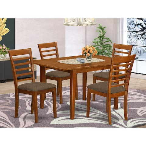 Dinette Set Contains Small Table and 4 Dining Room Chairs