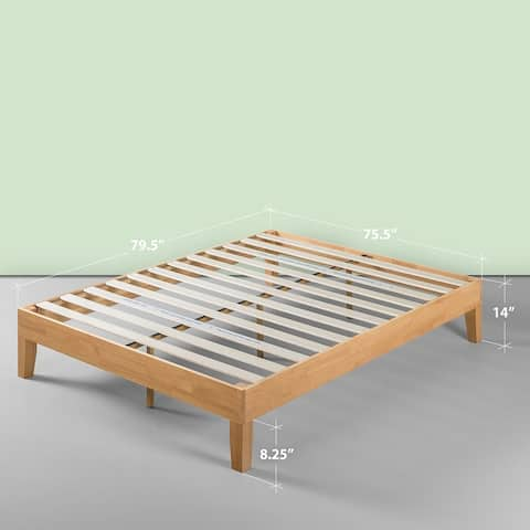 Priage by Zinus Deluxe Solid Wood 14-inch Platform Bed