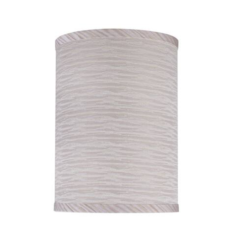 "Aspen Creative Hardback Drum (Cylinder) Shape Spider Construction Lamp Shade in Striped (8"" x 8"" x 11"")"