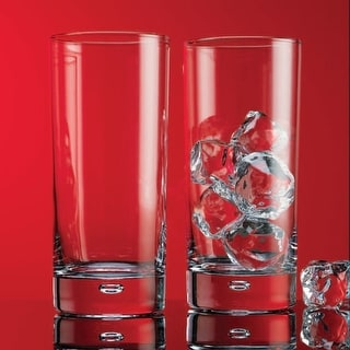 Bubble Highball Glasses - 17 Ounces - Set of 8 - Home Essentials Red Series