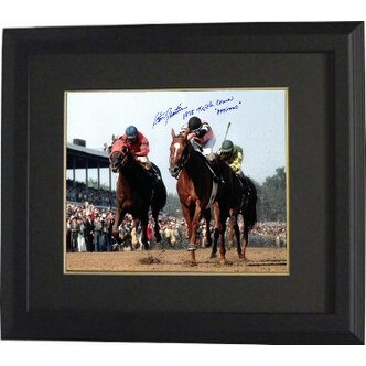 Affirmed signed Kentucky Derby Horse Racing 16X20 Photo Custom Framed dual  1978 Triple Crown Affir