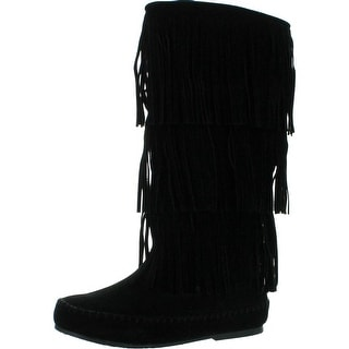 Pierre Dumas Womens Apache-4 Fringe Moccasin Fashion Boots