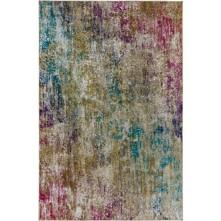 Link to Porch & Den Moon Rise Abstract Pattern Velvet Area Rug Similar Items in Rugs