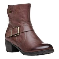 Propet Women's Tory Bootie Brown Full Grain Leather