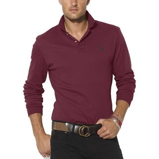 Polo Ralph Lauren Interlock Long Sleeve Polo Shirt Burgundy Large L