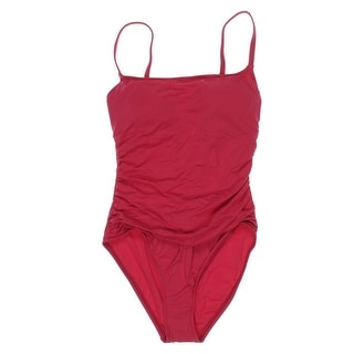 La Blanca Womens Bandeau Shirred One-Piece Swimsuit - 4