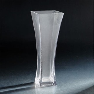 Diamond Star 64034 14 x 5 x 5 in. Flared Square Glass Vase Clear