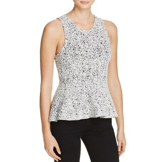Theory Womens Casual Top Textured Printed - l