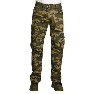 Camp & Campus Young Men's Rustic Cargo Pant (Option: Beige)