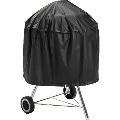 "Mintcraft SPC05-12 Kettle Grill Cover with Drawcord, 29"" x 18"", Black"