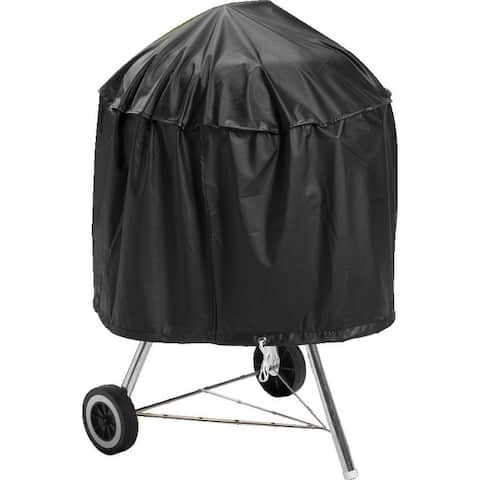 """Mintcraft SPC05-12 Kettle Grill Cover with Drawcord, 29"""" x 18"""", Black"""