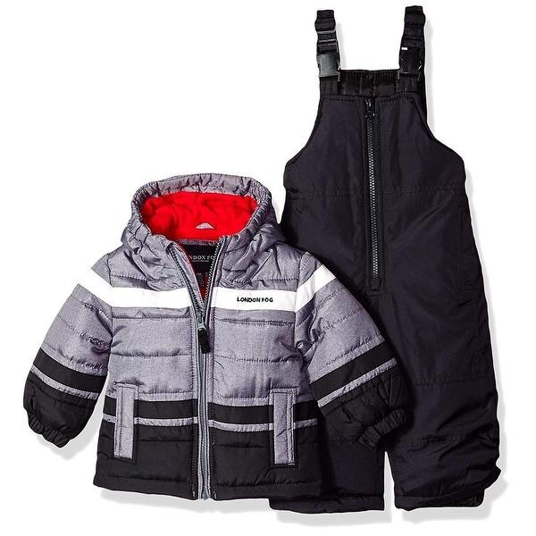 2897938391b4 Shop London Fog Boys 12-24 Months 2-Piece Colorblock Snowsuit - Grey ...