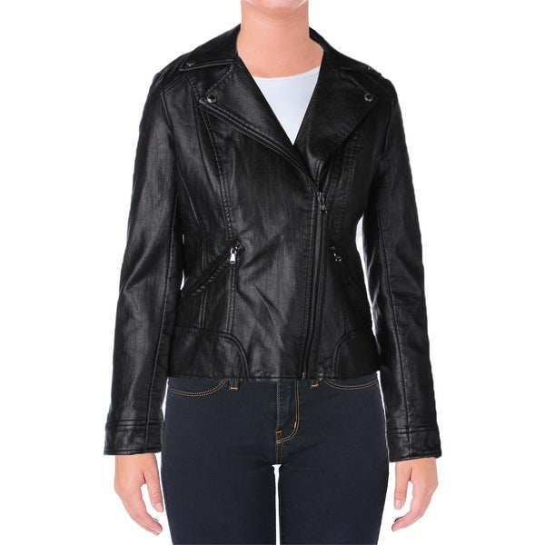 22fc08828e12 Shop Guess Womens Motorcycle Jacket Faux Leather Snake Print - s - Free  Shipping On Orders Over $45 - Overstock - 17157726