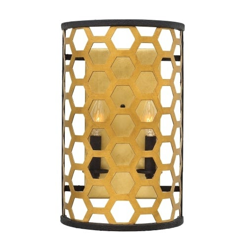 Fredrick Ramond FR40992SSG 2 Light Flush Mount Wall Sconce from the Felix Collection