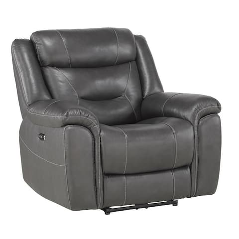 Oswald Leather Power Recliner with Power Headrest