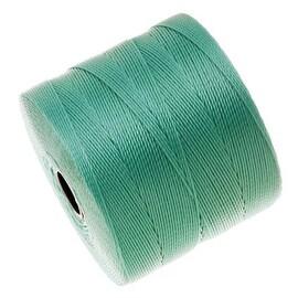 BeadSmith Super-Lon (S-Lon) Micro Macrame Twisted Nylon Cord - Turquoise / 287 Yard Spool