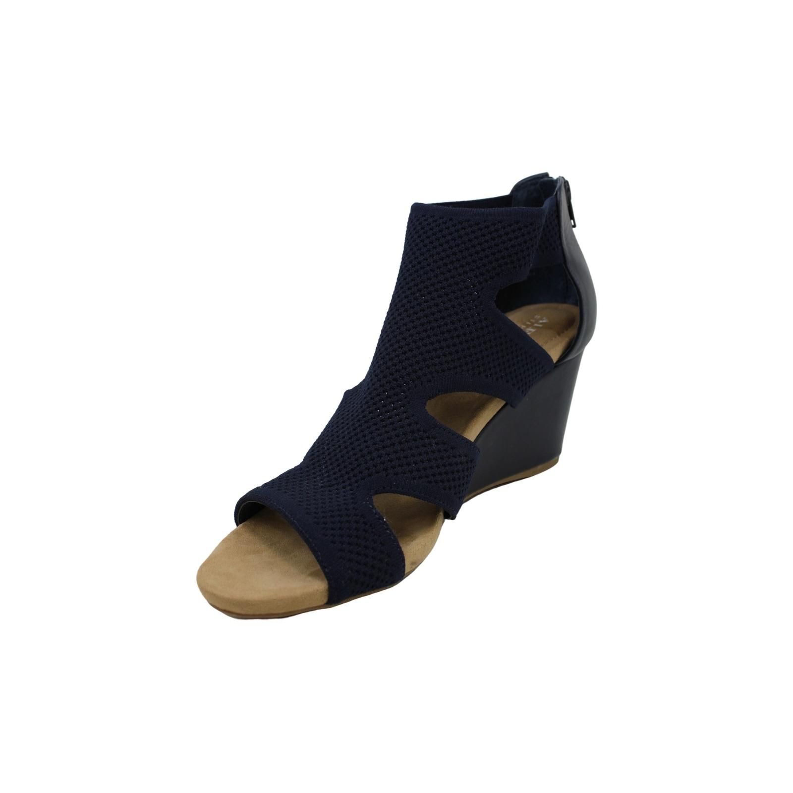 Alfani Womens Pearcee Leather Open Toe Casual Platform Sandals