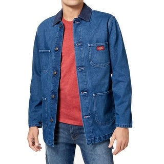 Dickies Mens Medium Blanket Lined Chore Denim Coat
