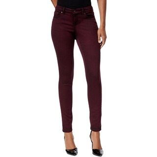 Vintage America Womens Boho Skinny Jeans Colored Mid-Rise