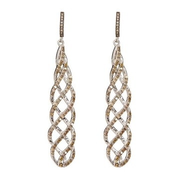 Pave Full Diamond Earring, 925 Sterling Silver Pave Diamond Dangle and Drop Earring