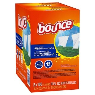 Bounce Outdoor Fresh Dryer Sheets - 320 Sheets - Orange