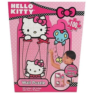 Hello Kitty 100 Piece Repositionable Wall Puzzle - Kids Room
